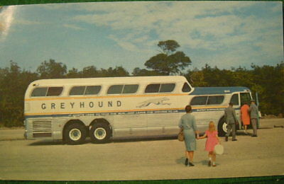 Vintage GREYHOUND BUS Postcard. Super Scenicruiser. 1960's. Printed Photo. NoRsv