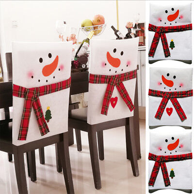 Christmas decoration chair covers dining seat santa claus home party decor JR