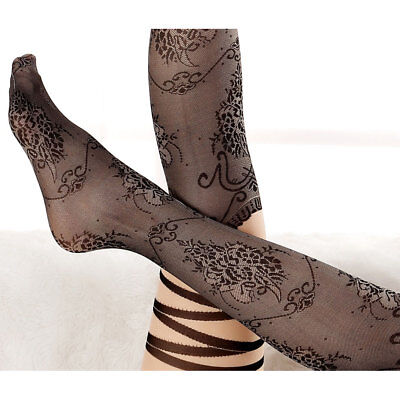 Hot-Sale Women Floral Striped Thigh High Stocking