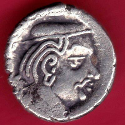 Ancient India - Kshatrap Dynasty - Kings Portrait - Rare Silver Coin  #pb25