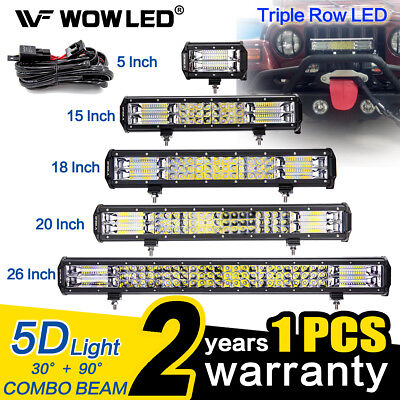 WOW -  5D LED Work Light Bar Spot Flood Offroad Roof Lights Driving Lamp 4x4 Car