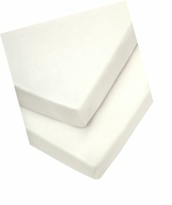 Mamas & Papas Moses Fitted Sheets, Cream, (30 x 68 cm) Pack of 2, Nursery Bed...
