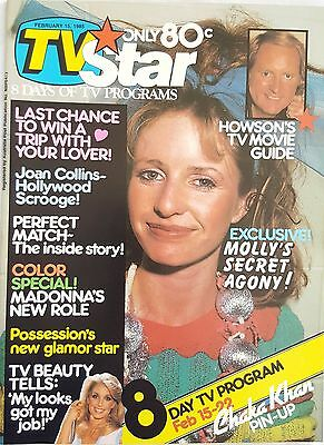 TV STAR 1985 FEB 15~,Country Practice,Charlies Angels, Madonna ~ N/M