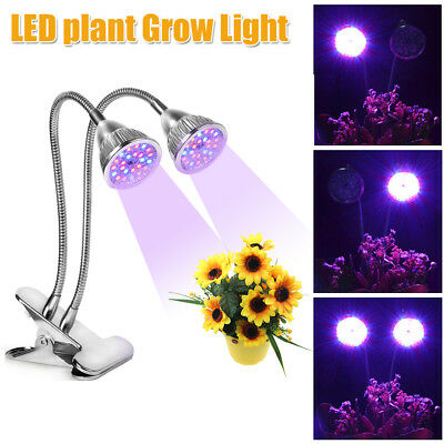 2 Head LED Hydroponic Plant Grow Light Bulb Lamp Lighting Panel Board Growth NEW