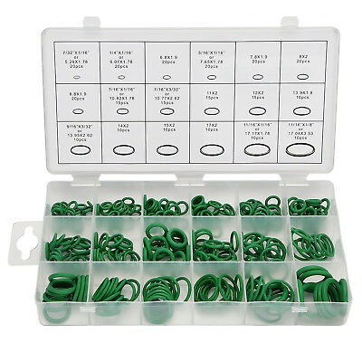 270PC O Ring Seal Rubber Assortment 18 sizes Green Kit Hydraulics Air Gas Oil