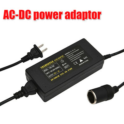 AC 110-240V to DC 12V Home to Car Power Converter Adapter 8A 96W 1+ 1.2m length