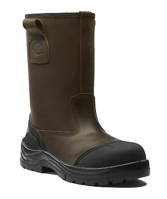 Dickies Stafford Fur Lined Safety Rigger Work Boots Brown (Sizes 5-12) Men's