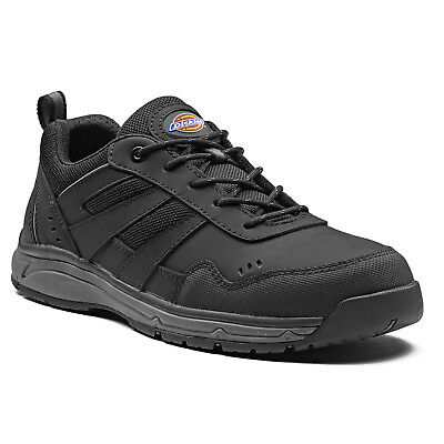Dickies Emerson Safety Work Trainer Shoes Black & Grey (Sizes 6-14) Men's Boots