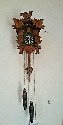 Vintage black forest cuckoo clock Working