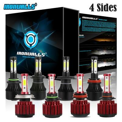4 Side 9004 9005 9006 9007 H4 H7 H11 H13 H16 H10 LED Headlight Fog Bulbs Kit 2x