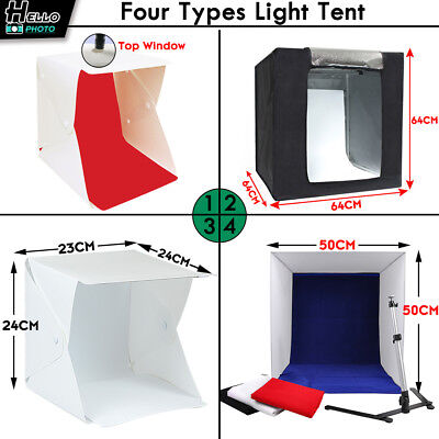 Portable Photography Studio Light Tent Photo USB LED Lighting Room Backdrop Cube