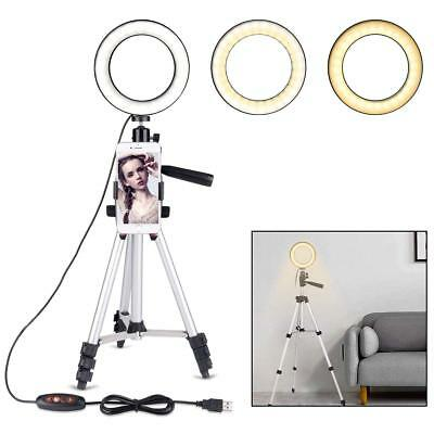 Ring Light Stand Tripod Mini LED Camera Light With Cell Phone Holder LED Lamp