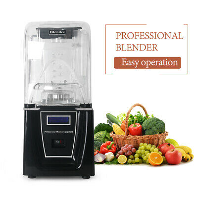 Commercial Blender Smoothie Maker Professional Mixing Equipment Soundproof Cover