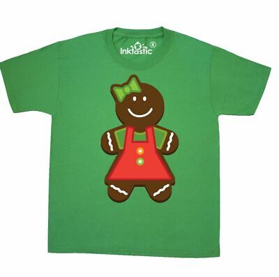 34934b5d1cf2 Inktastic Gingerbread Girl Christmas Youth T-Shirt Cookie Cute Holiday  Colorful