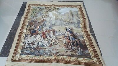 "Needlepoint tapestry wool handmade French design beautiful size46""x40cm102x118"