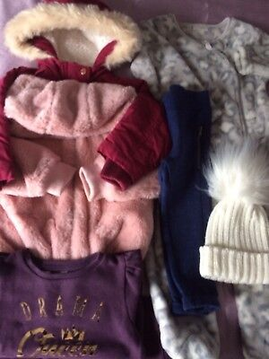 Baby Girls Bundle Of Warm Clothes. 12-18months