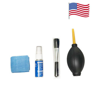 Lens Cleaning 4 in 1 Cleaner Dust Pen Blower Cloth Kit For DSLR VCR Camera