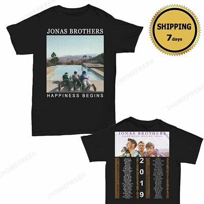 7d635e852 Jonas Brotherss t Shirt Happiness Begins tour 2019 T-Shirt 2 side Black Men