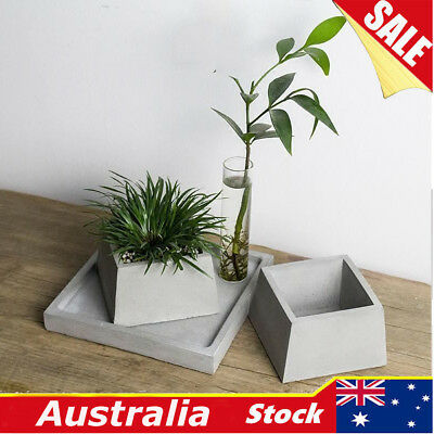 DIY Geometric Flower Pot Silicone Molds Plant Concrete Vase Mould Handmade Tool