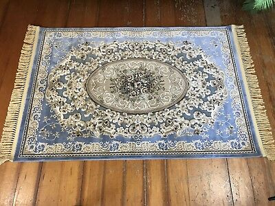 190 x 116 cm Persian Style Floor Rug-Like New~Wonderful 'Sculpted' Design~
