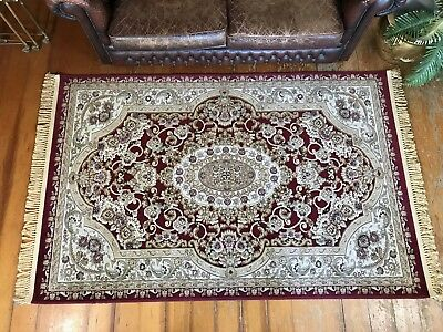 Persian Style Floor Rug-Wonderful 'Sculpted' Design~Like New~144x240 cm