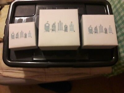 3 beach hut square boxes small medium and large