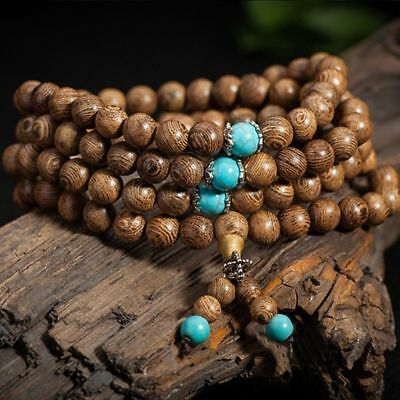 Jewelry Mala Tibetan Buddhist 6mm 108 Beads Buddhist Bracelet Prayer Wood HOT!!!