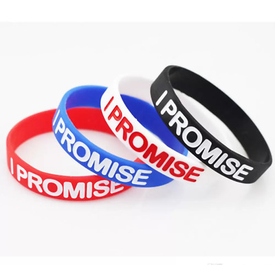 4Pcs I Promise Wristband Silicone Bracelet Rubber LeBron James Basketball Sports