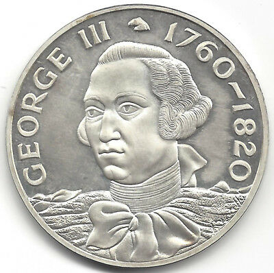 George III 1760 1820 Silver Medal Edge Impressed A 183 44 mm Dia 40 grms