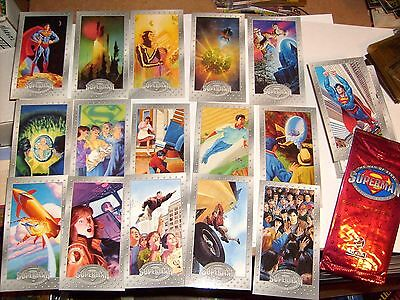 1994 Superman Man Of Steel Platinum Series Collector's Widevision 90 Card Set!