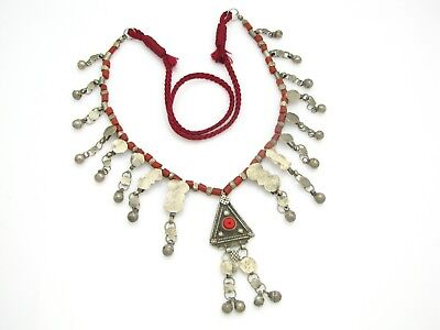 elegant necklace with antique hand made Yemen Bedouin ornaments