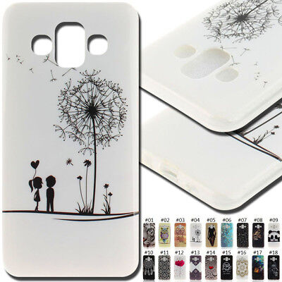 For Samsung Galaxy J7 Duo(2018) Rubber TPU Soft Skin Case Back Protective Cover