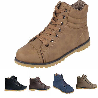 Womens Ladies Lace Up Ankle Boots Casual Rubber Grip Sole Combat Boots Sizes 3-8