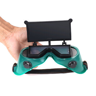 1Pc Welding Cutting Welders Safety Glasses Flip Up Dark Green Lenses Goggles