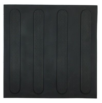 Brutus TACTILE GROUND SURFACE INDICATOR MATS 3Pieces R10 Slip Rating BLACK STRIP
