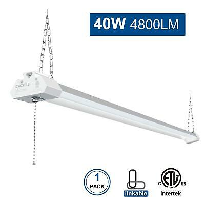 LED Shop Light for Garages, 4FT 40W 4800LM Ceiling Light Fixture with Pull Chain
