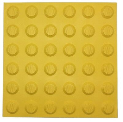 Brutus TACTILE GROUND SURFACE INDICATOR MATS 3Pieces R10 Slip Rating YELLOW STUD