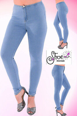 *SALE* Ladies High Waisted Skinny Jeans Stretch Denim Jegging Pants Size 6-14