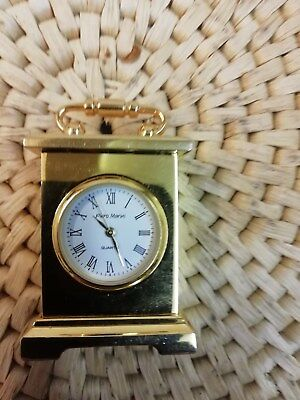 Solid Brass Minature Carriage Clock Made By Piero Marini