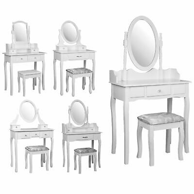 Nishano Dressing Table With Drawer Stool Set Makeup Vanity Bedroom Desk White