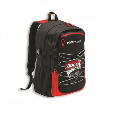Zaino Backpack Originale Ducati Corse Sketch Rosso/nero Poliestere One Size