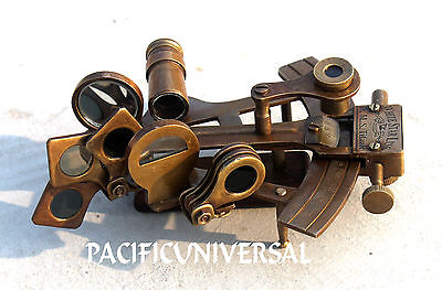 Heavy Brass Collectible Sextant Ships Astrolabe Working Instrrument Table Decor.