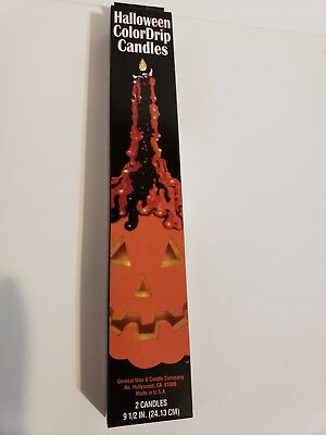 Halloween Color Drip Candles 9.5 in 2pk