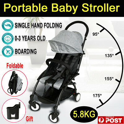 Compact Lightweight Baby Stroller Jogger Travel Pram Easy Fold Carry-on Plane AU
