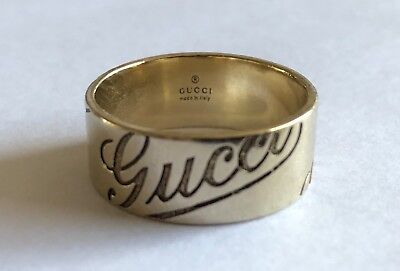 8be84ae5a 18CT WHITE GOLD GUCCI Romantic Wedding Band size T 1/2 (Gucci Size ...