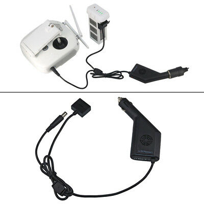 Portable Car Charger Adapter Battery Remote Control For DJI Phantom 3 Pro Adv SE
