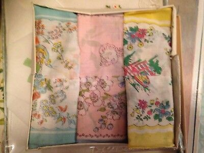 Vintage Children's Handkerchief Set