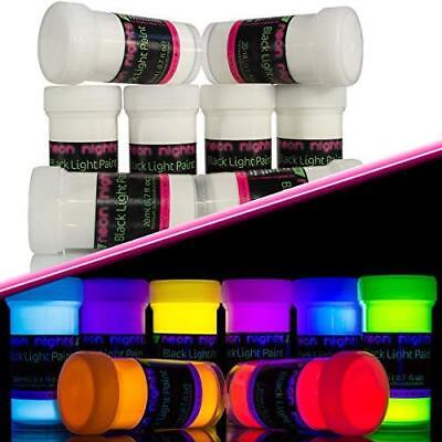 neon nights Invisible Ultraviolet | UV | Black Light | Fluorescent Glow Paint -