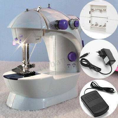 Multifunction Electric Mini Sewing Machine Send Power Household Desktop+16 Led