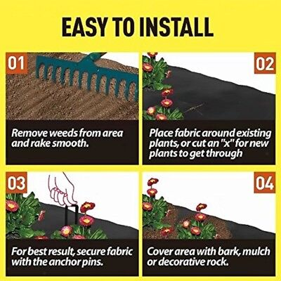 1x10m / 2x5m Weed Control Fabric Ground Cover Cloth landscape Driveway